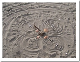 medicine wheel at ocean