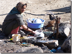 kashmir woman at the well